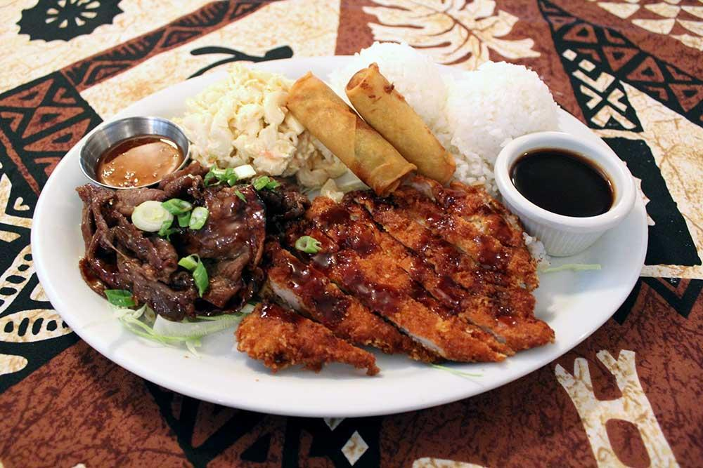 Kona Kitchen Hawaiian Food Menu
